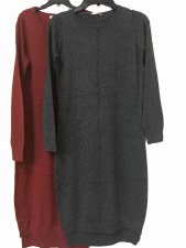 Knit Dress Rosewood P