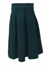 Brushed Wool Skirt Teal 18