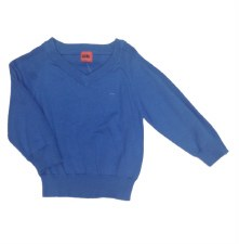 Boys Vneck Sweater Blue 5