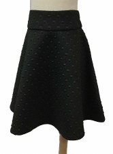 Box Quilted Skirt Black 16