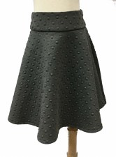 Box Quilted Skirt Charcoal 8