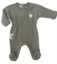Knit Stretchie W/ Star Grey 3M