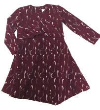 Dress W/ Ruffle Burgundy 6