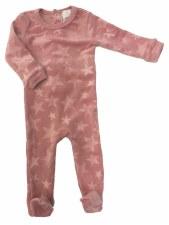 Velour Stars Stretchie Pink 3M