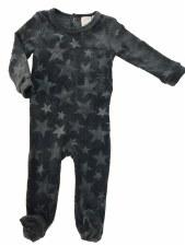 Velour Stars Stretchie Grey 12