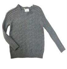 Textured Sweater Grey 6X