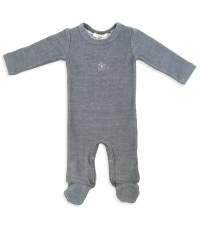 Ribbed Stretchie Grey 12M