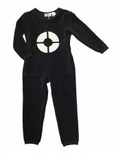 Ribbed Velour PJ Black 8