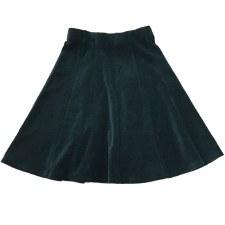 Panelled Velour Skirt Teal 7
