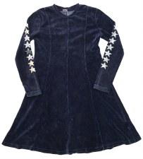 Velour Dress W/ Stars Indigo 5