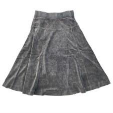 Velour Skirt Grey 3