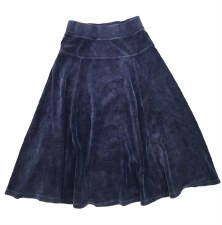 Velour Skirt Indigo 3
