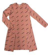 Ribbed FRAGILE Dress Mauve 6X