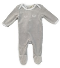 Velour Blink Stretchie Grey 1M