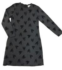 Dress W/ Velvet Hearts Grey 6