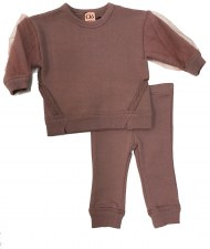 Baby Set W/ Mesh Sleeves Mauve