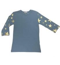 Tshirt W/ Gold Stars Blue 12