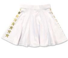 Skirt W/ Gold Stars White 6