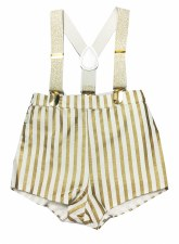 Gold Striped Overalls Gold 24M