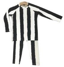 Striped PJ Black/White 18M