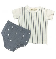 Metallic Striped Bloomer Set B
