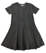 Panelled Denim Wash Dress Char