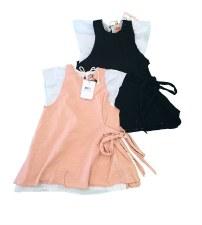 Dress W/ Sidetie Black/White 1
