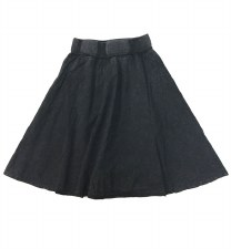 Denim Wash Circle skirt Dark 7