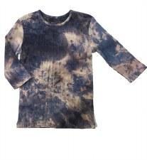 Ribbed Tie Dye Tshirt Blue 8