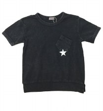 S/S Denim Wash Star Tee Dark 1