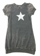 Puff Sleeve Star Dress LtGrey