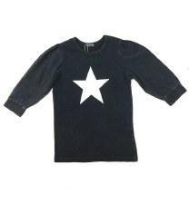 Puff Sleeve Tshirt LtGrey 10