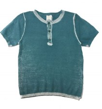 Cotton S/S Sweater Teal 12M