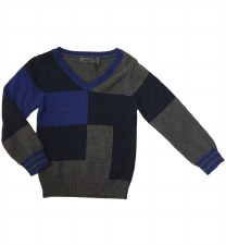 Boys Colorblock Sweater Grey/N
