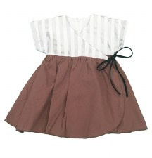 Dress W/ Silver Stripes Brick