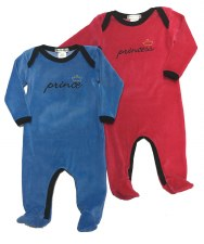 Velour Prince Stretchie Blue/B