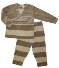 Velour Wrap-Look PJ Beige 6X