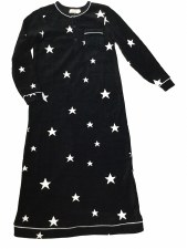 Velour Stars NG Black L(14)