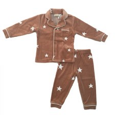 Button Down Stars PJ Pink 6X