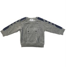 Velour Pocket Top Grey 12