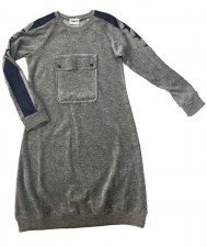 Velour Dress W/ Pocket Grey 7