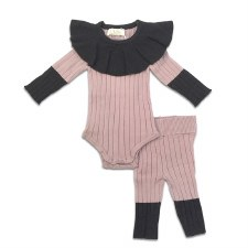 Ribbed Knit Baby 2pc Blush 12M