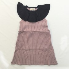 Ribbed Jumper W/ Ruffle Blush
