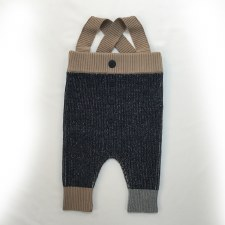 Ribbed Overalls Black/Camel 6M