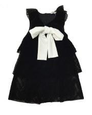 Velvet Mesh Dress Black 6