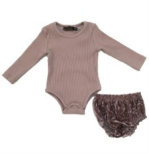 Ribbed Baby Set W/ Bloomers Ma