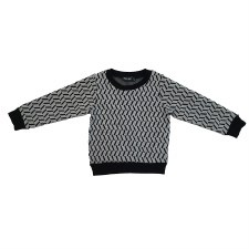 Geometric Sweater Black/White