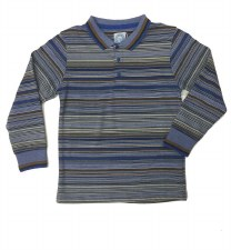 Multistripe L/S Polo Blue 5