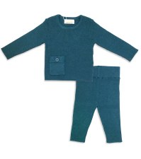 Ribbed Knit 2pc Teal 6M