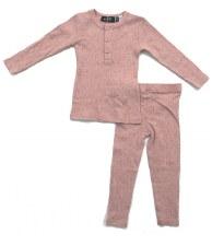 Ribbed Speckled PJ Pink 3